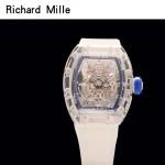 Richard Mille-80-6 潮流奢華男士藍色玻璃殼材質原裝全自動機械腕錶