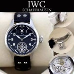 IWC-076 商務男士瑞士機芯仿飛機渦輪引擎藍寶石玻璃鏡面大飛系列腕表