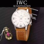 IWC-075-012 商務男士礦物質鋼化玻璃頭層牛皮超級海洋系列全自動機械腕表