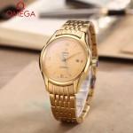OMEGA-174-19 時尚經典蝶飛系列土豪金配金底鋼帶款全自動機械腕錶