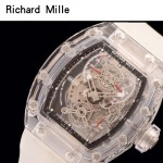 Richard Mille-80-3 潮流奢華男士黑色玻璃殼材質原裝全自動機械腕錶