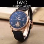IWC-074-10 商務男士日月星辰搭配陀飛輪設計玫瑰金配黑底全自動機械腕錶