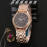 PATEK PHILIPPE-0145 百達翡麗進口石英藍寶石鏡面精品男士計時腕表