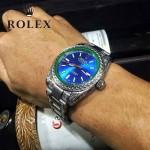 ROLEX-060 勞力士復古閃電雕刻加厚藍寶石玻璃搭配瑞士2813全自動機械機芯腕表