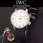 IWC-075-05 商務男士礦物質鋼化玻璃頭層牛皮超級海洋系列全自動機械腕表