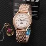 PATEK PHILIPPE-0145-01 百達翡麗進口石英藍寶石鏡面精品男士計時腕表
