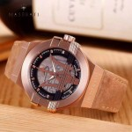 Maserati-002-3 潮流全新轎跑系列玫瑰金駝色皮帶款進口石英腕錶