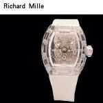 Richard Mille-80-4 潮流奢華男士白色玻璃殼材質原裝全自動機械腕錶