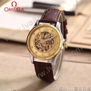 OMEGA-175 全新鏤空設計間金系列配金底藍寶石鏡面全自動機械腕錶