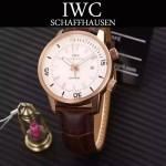 IWC-075-08 商務男士礦物質鋼化玻璃頭層牛皮超級海洋系列全自動機械腕表