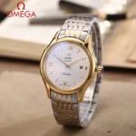 OMEGA-174-13 時尚經典蝶飛系列間金配白底鋼帶款全自動機械腕錶