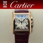 CARTIER-305-10 時尚新款TANK MC CHRONOGROPH多功能跑秒石英腕錶