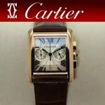 CARTIER-305-8 時尚新款TANK MC CHRONOGROPH多功能跑秒石英腕錶