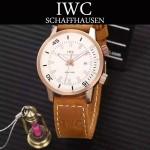 IWC-075-011 商務男士礦物質鋼化玻璃頭層牛皮超級海洋系列全自動機械腕表