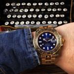 ROLEX-057-01 勞力士復古雕花藍寶石鏡面佛邏倫薩藝術雕花自動機械腕表