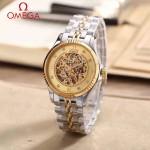 OMEGA-175-10 全新鏤空設計間金系列配金底藍寶石鏡面全自動機械腕錶