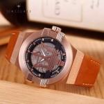 Maserati-002-2 潮流全新轎跑系列玫瑰金橙色皮帶款進口石英腕錶