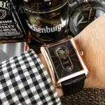 Piaget-024-02 商務男士伯爵黑帶系列手動上鏈機械腕表