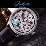 格拉蘇蒂-01-06 時尚新款全自動機械雕花機芯藍寶石抗磨鏡面男士腕表