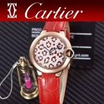 CARTIER-308-03 卡地亞絢麗多彩叢林進口石英豹紋表盤腕表