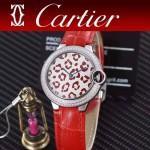 CARTIER-308-09 卡地亞絢麗多彩叢林進口石英豹紋表盤腕表