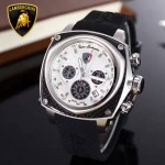 Lamborghini-010-08 兰博基尼進口日本原裝計時碼表礦物質鑫鋼化玻璃男士腕表