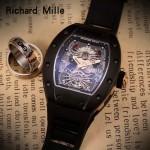Richard Mille-81-09 理查德米勒原裝進口8215機械 防水膠帶配原裝折疊扣男士腕表