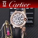 CARTIER-308-02 卡地亞絢麗多彩叢林進口石英豹紋表盤腕表
