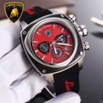 Lamborghini-010-09 兰博基尼進口日本原裝計時碼表礦物質鑫鋼化玻璃男士腕表