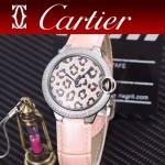 CARTIER-308-08 卡地亞絢麗多彩叢林進口石英豹紋表盤腕表