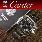 CARTIER-306-01 時尚款進口VK石英機芯拱形藍光玻璃車頭燈系列男士腕表