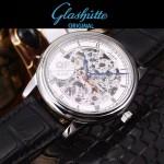 格拉蘇蒂-01-014 時尚新款全自動機械雕花機芯藍寶石抗磨鏡面男士腕表