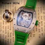 Richard Mille-81-04 理查德米勒原裝進口8215機械 防水膠帶配原裝折疊扣男士腕表