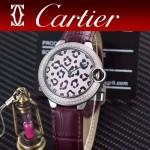 CARTIER-308-07 卡地亞絢麗多彩叢林進口石英豹紋表盤腕表