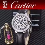 CARTIER-308-010 卡地亞絢麗多彩叢林進口石英豹紋表盤腕表