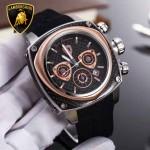 Lamborghini-010-04 兰博基尼進口日本原裝計時碼表礦物質鑫鋼化玻璃男士腕表