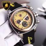 Lamborghini-010-010 兰博基尼進口日本原裝計時碼表礦物質鑫鋼化玻璃男士腕表