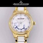 JAEGER-049 時尚款進口自動機械機芯藍寶石玻璃鏡面女士陶瓷腕表