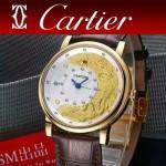 CARTIER-307 全球限量版龍體采用18K金箔搭載進口瑞士9015機械機芯九五至尊龍表