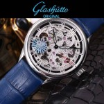 格拉蘇蒂-01-02 時尚新款全自動機械雕花機芯藍寶石抗磨鏡面男士腕表