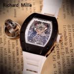 Richard Mille-81-011 理查德米勒原裝進口8215機械 防水膠帶配原裝折疊扣男士腕表