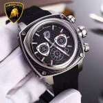 Lamborghini-010 兰博基尼進口日本原裝計時碼表礦物質鑫鋼化玻璃男士腕表