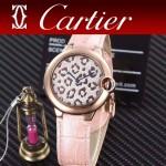 CARTIER-308-04 卡地亞絢麗多彩叢林進口石英豹紋表盤腕表