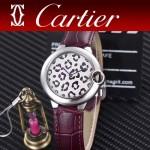 CARTIER-308-013 卡地亞絢麗多彩叢林進口石英豹紋表盤腕表