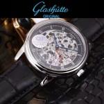 格拉蘇蒂-01-013 時尚新款全自動機械雕花機芯藍寶石抗磨鏡面男士腕表