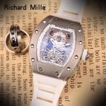 Richard Mille-81-01 理查德米勒原裝進口8215機械 防水膠帶配原裝折疊扣男士腕表