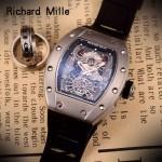 Richard Mille-81 理查德米勒原裝進口8215機械 防水膠帶配原裝折疊扣男士腕表