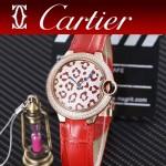 CARTIER-308 卡地亞絢麗多彩叢林進口石英豹紋表盤腕表