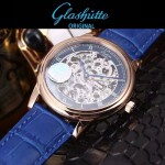 格拉蘇蒂-01-011 時尚新款全自動機械雕花機芯藍寶石抗磨鏡面男士腕表