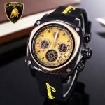 Lamborghini-010-05 兰博基尼進口日本原裝計時碼表礦物質鑫鋼化玻璃男士腕表